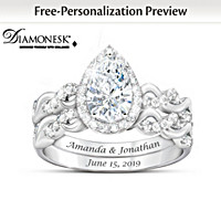 Perfect Pair Personalized Bridal Ring Set