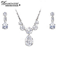 Royal Coronation Necklace And Earrings Set