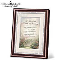 Thomas Kinkade If Tears Could Build A Stairway Poem Frame