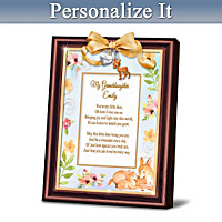 Granddaughter, You\'re My Little Deer Personalized Poem Frame