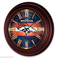 Denver Broncos Wall Clock