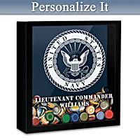 U.S. Navy Personalized Bottlecap Shadowbox