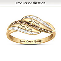 Our Love Grows Forever Personalized Diamond Ring