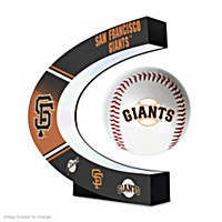 San Francisco Giants Levitating Baseball Sculpture