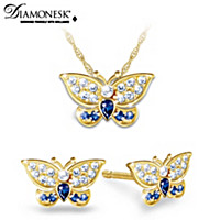 Regal Beauty Pendant Necklace And Earrings Set