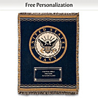 Navy Hero's Tribute Personalized Throw Blanket