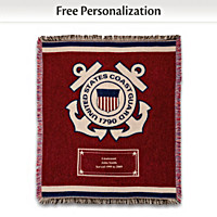 Coast Guard Hero's Tribute Personalized Throw Blanket