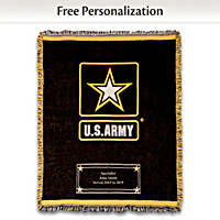 Hero's Tribute Personalized Army Throw Blanket