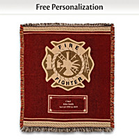 Hero's Tribute Personalized Firefighter Throw Blanket