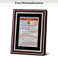 A Firefighter's Prayer Personalized Frame