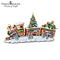 Thomas Kinkade Happy Holiday Express Sculpture