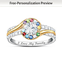 Real Love Of Family Personalized Ring