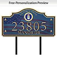 Air Force Pride Personalized Address Sign