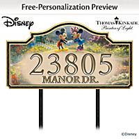 Disney Our Loving Home Personalized Address Sign