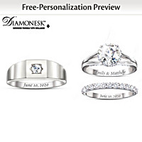 Written In The Stars Personalized Wedding Ring Set
