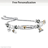 I Love My Saints Personalized Bracelet