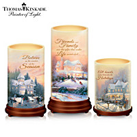 Thomas Kinkade Pillars Of Light Candle Set