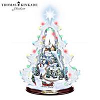 Thomas Kinkade Holiday Lights Guide You Home Christmas Tree