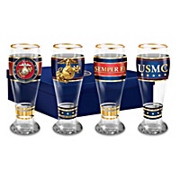 USMC Pride Pilsner Glass Set