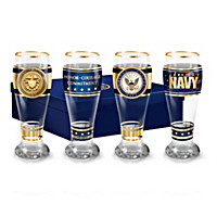 Navy Pride Pilsner Glass Set