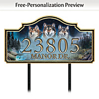 Welcome To Our Den Personalized Address Sign
