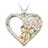 Flowers In Heaven Pendant Necklace