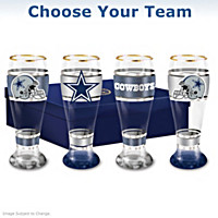 NFL Pilsner Glass Set