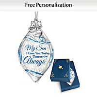 My Son, I Love You Personalized Ornament