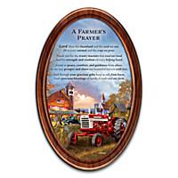 A Farmer\'s Prayer Collector Plate