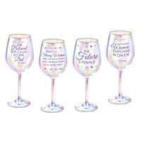 Cheers To Strong Women Everywhere Wine Glass Set