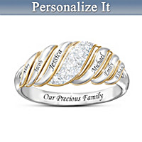 Our Precious Family Personalized Diamond Ring