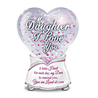 My Daughter, I Love You Every Day Glitter Globe