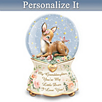You're My Little Dear Personalized Glitter Globe