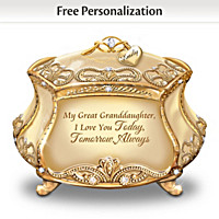 My Dearest Great Granddaughter Personalized Music Box