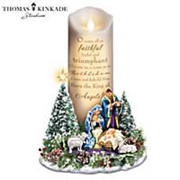 Thomas Kinkade O Come All Ye Faithful Candle