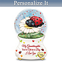 You're Cute As A Bug Personalized Glitter Globe