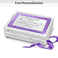 Granddaughter You Sparkle And Shine Personalized Music Box