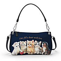 Cats Fill A Heart With Love Handbag