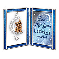 Love My Yorkie To The Moon & Back Poem Frame