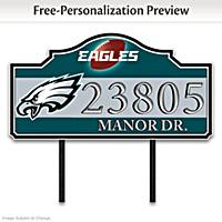 Philadelphia Eagles Personalized Address Sign