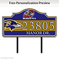 Baltimore Ravens Personalized Address Sign