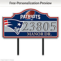 New England Patriots Personalized Address Sign