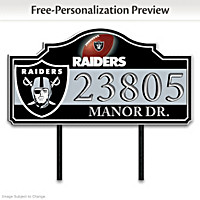 Las Vegas Raiders Personalized Address Sign