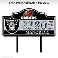 Las Vegas Raiders Personalized Address Sign
