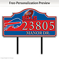 Buffalo Bills Personalized Address Sign
