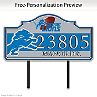 Detroit Lions Personalized Address Sign