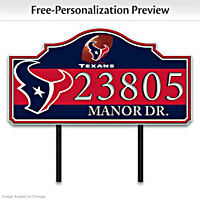 Houston Texans Personalized Address Sign