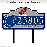 Indianapolis Colts Personalized Address Sign