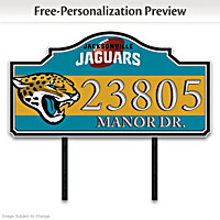 Jacksonville Jaguars Personalized Address Sign