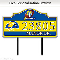 Los Angeles Rams Personalized Address Sign